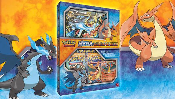 Mega-Glurak-Box des Pokémon Sammelkartenspiels