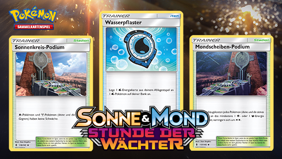 Trainerkarten für jeden Typ in <em>Sonne & Mond – Stunde der Wächter</em>
