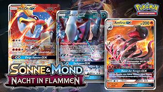 Drei Pokémon-GX treten aus dem Schatten hervor.