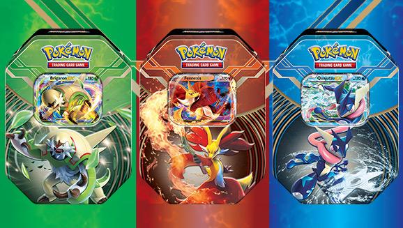 """Tin-Box """"Kalos-Kraftpaket"""" des Pokémon Sammelkartenspiels"""
