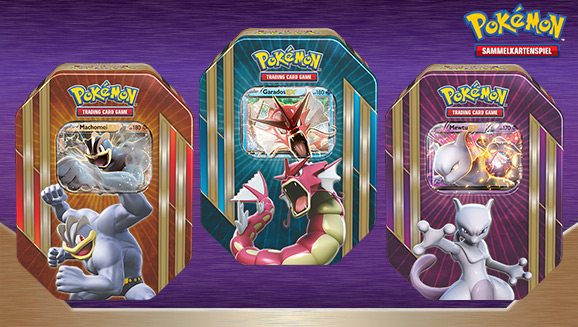 "Tin-Box ""Power mal 3"" des Pokémon Sammelkartenspiels"
