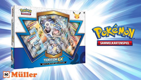 """Rote & Blaue Kollektion: Turtok-<em>EX</em>"" des Pokémon Sammelkartenspiels"