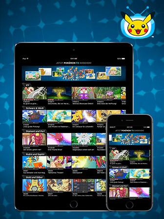 Lade die aktualisierte Pokémon TV App herunter!