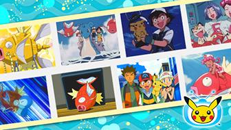 Faites trempette avec Magicarpe dans des épisodes sur TV Pokémon