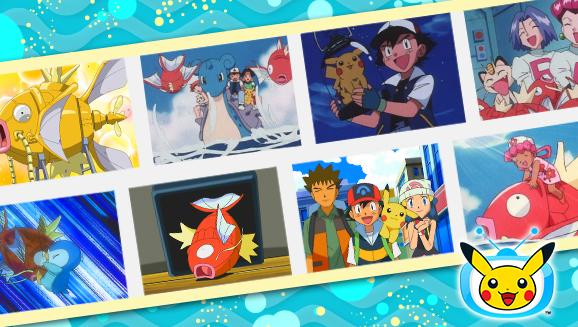 Faites trempette avec Magicarpe dans des épisodes sur <em>TV Pokémon</em>