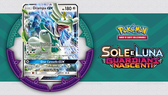 Carte dell'espansione <em>Sole e Luna - Guardiani Nascenti</em> in primo piano