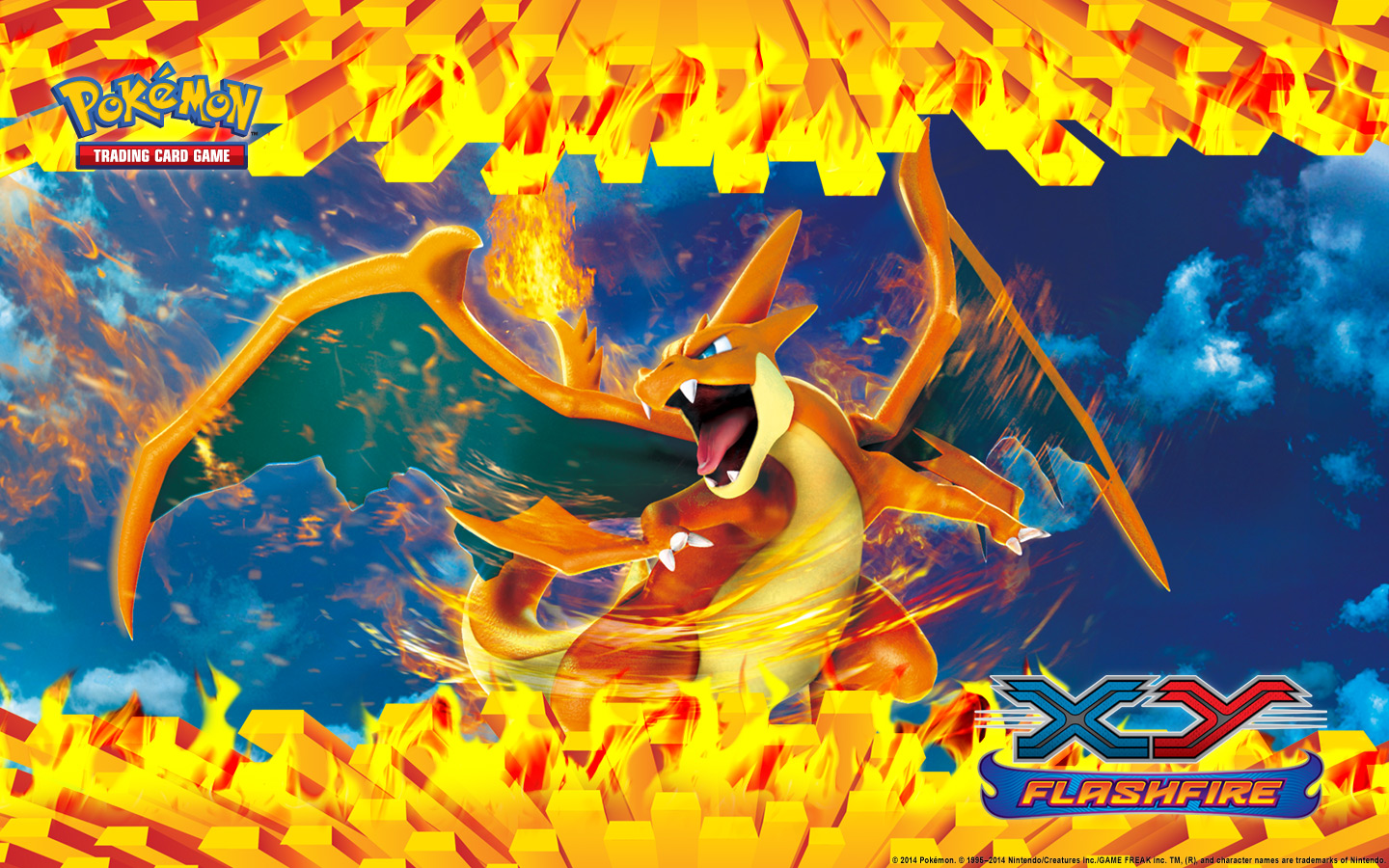 Wallpaper download pokemon - Pok Mon Tcg Xy Flashfire Charizard Wallpaper