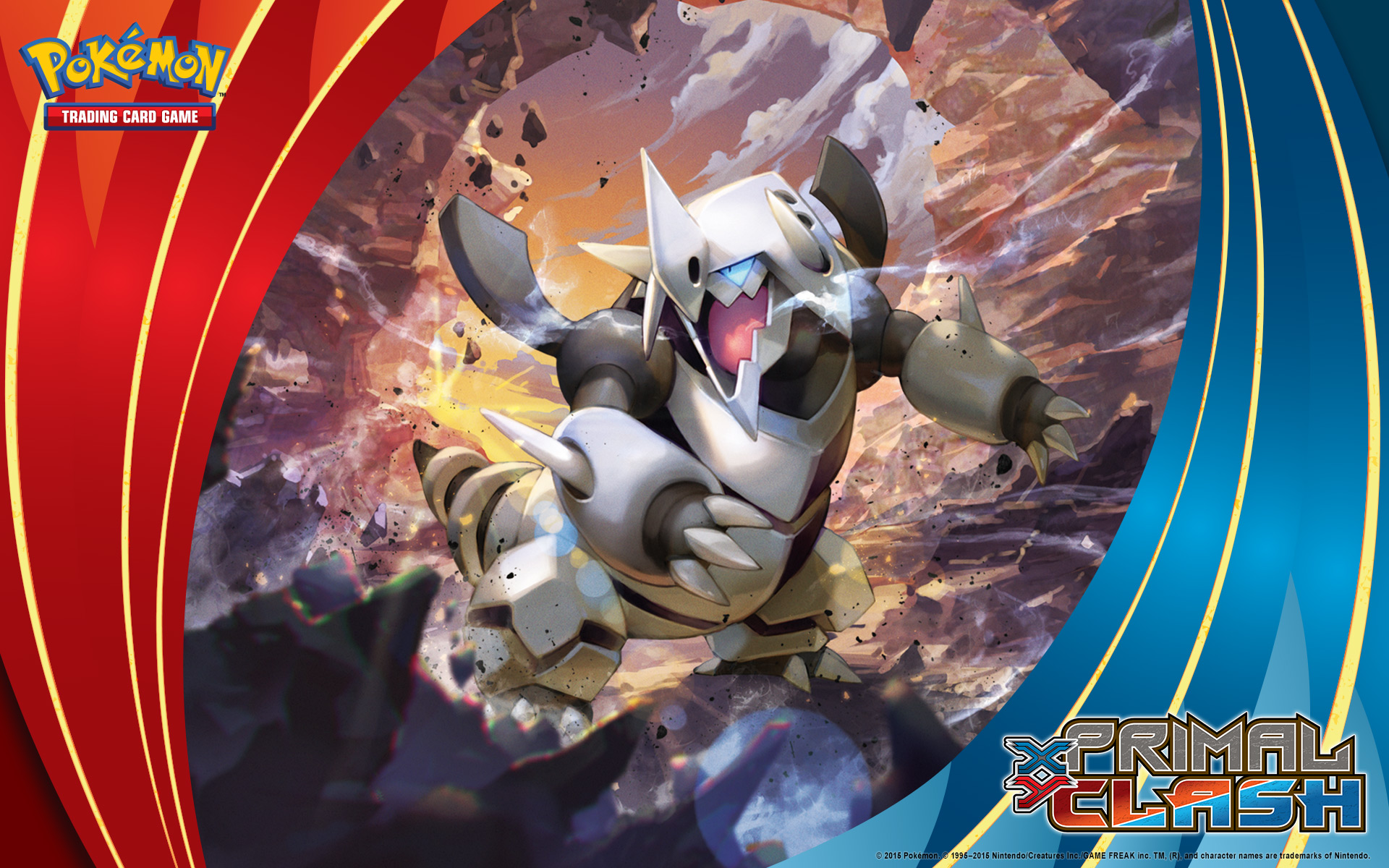 Wallpaper download pokemon - Pok Mon Tcg Xy Primal Clash Mega Aggron Wallpaper