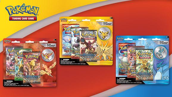 Pokémon TCG: Collector's Pin 3-Pack (Articuno, Zapdos, Moltres)