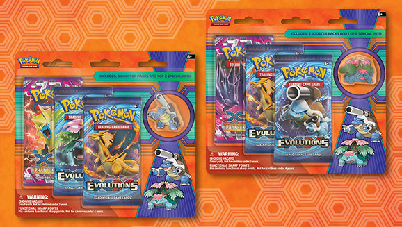 Pokémon TCG: Collector's Pin 3-Pack Blister (Mega Venusaur and Mega Blastoise)