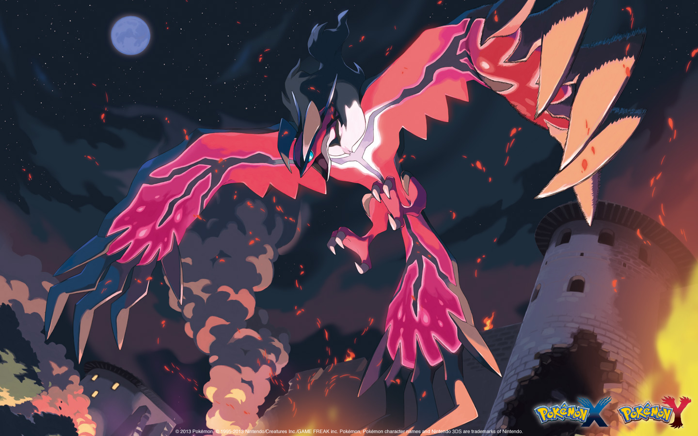 Wallpaper download pokemon - Pok Mon X And Pok Mon Y Yveltal Wallpaper