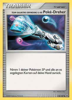 Team Galaktiks Erfindung G-105 Poké-Dreher