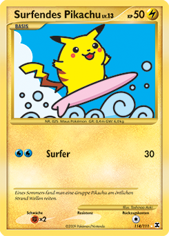 Surfendes Pikachu