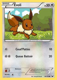 Voli xy poings furieux encyclop die des cartes du - Pokemon noir 2 evoli ...