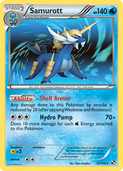 Samurott | Black & White | TCG Card Database | Pokemon.com