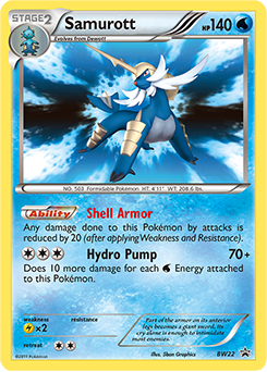 Samurott | BW—Promo | TCG Card Database | Pokemon.com
