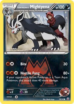 Team Magma's Mightyena