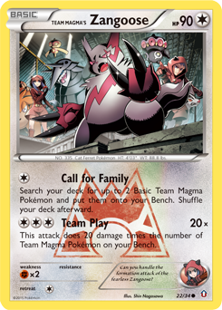 Team Magma's Zangoose