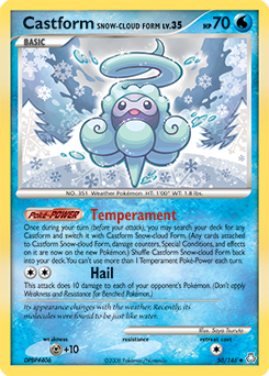Castform Snow-cloud Form