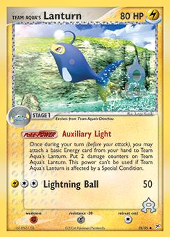 Team Aqua's Lanturn