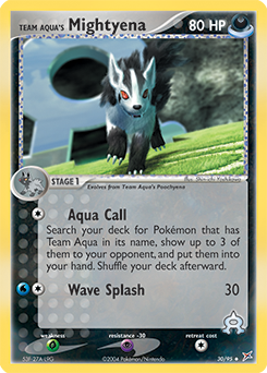 Team Aqua's Mightyena