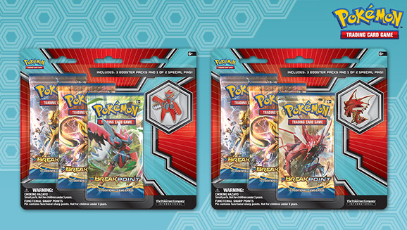 Mega Scizor and Shiny Mega Gyarados 3-Pack Pin Blister