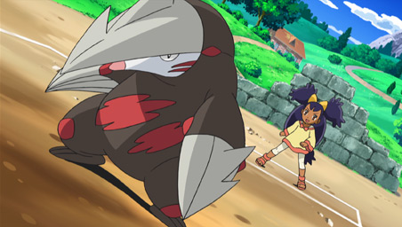 Iris and Excadrill Against the Dragon Buster!