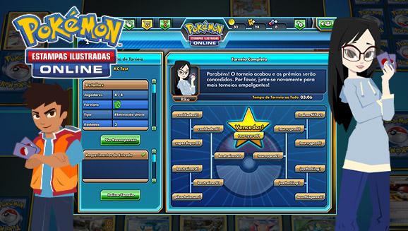 Torneios do Pokémon Estampas Ilustradas Online