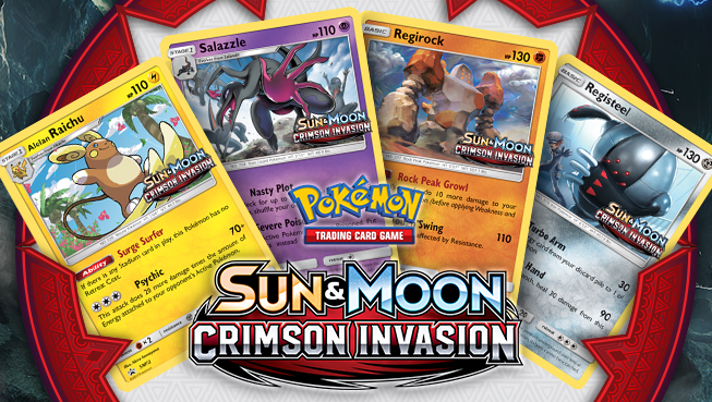 Pokémon Sun and Moon - Crimson Invasion prerelease