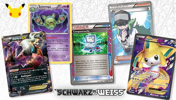 Pokémon-Sammelkartenspiel-Profis enthüllen ein Spektrum ihrer Lieblingskarten aus der Serie Schwarz & Weiß