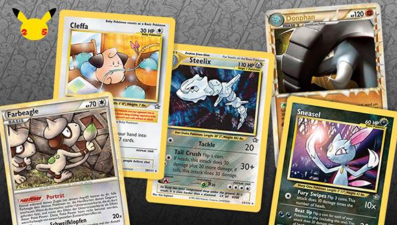 Populäre Pokémon-Sammelkartenspiel-Karten aus der Johto-Ära