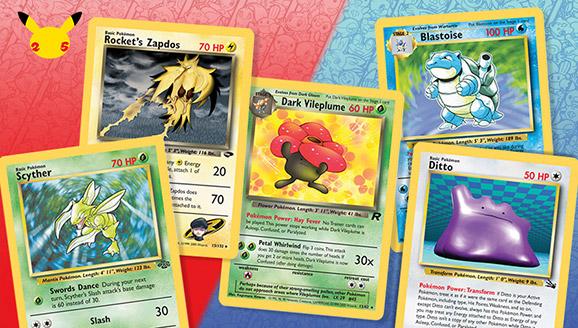 Entdecke beliebte Pokémon-Sammelkartenspiel-Karten aus der Kanto-Ära wieder