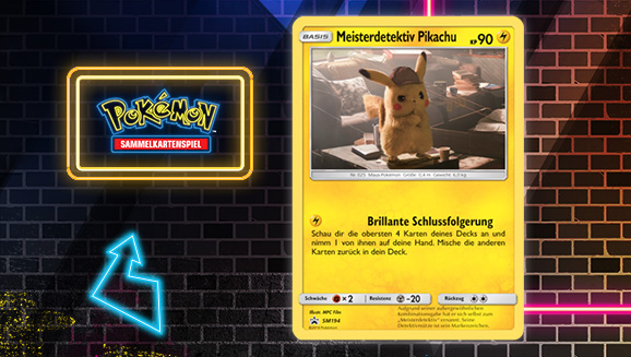 Begegne Meisterdetektiv Pikachu in Meisterdetektiv Pikachu des Pokémon-Sammelkartenspiels