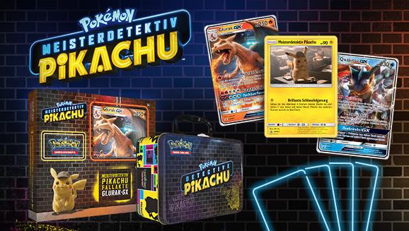 Übernimm den Fall – mit Karten aus Meisterdetektiv Pikachu!