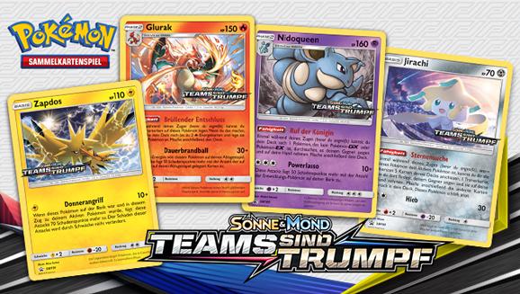 Probiere zusammen mit Freunden neue Karten bei einem <em>Sonne & Mond – Teams sind Trumpf</em> Prerelease-Turnier aus!