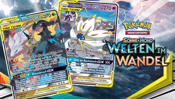Pokémon und Trainer zusammen in Welten im Wandel