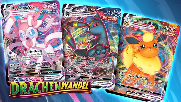 Pokémon-Sammelkartenspiel-Dreierpack: Evolis Pokémon-VMAX-Familie