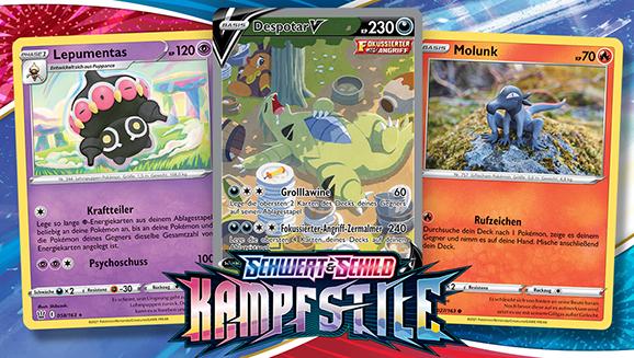 Kampfstile treffen auf Kunststile im Pokémon-Sammelkartenspiel