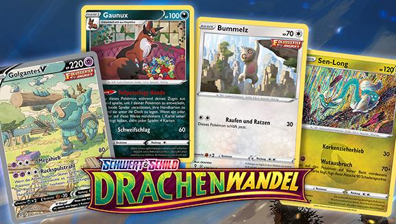 Erreiche neue Höhen mit den Kunstwerken aus der Pokémon-Sammelkartenspiel-Erweiterung Schwert & Schild – Drachenwandel