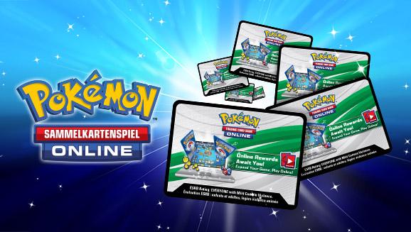 Löse Codes des Pokémon-Sammelkartenspiels-Online auf Pokemon.de ein