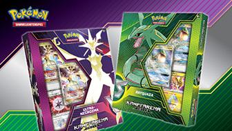 Ein legendärer Pokémon-Sammelkartenspiel-Kampf