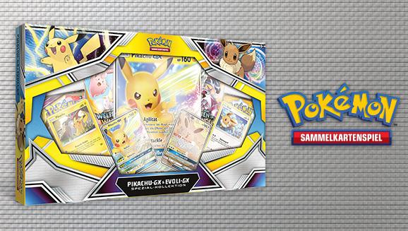 Zwei Favoriten in einer Pokémon-Sammelkartenspiel-Kollektion