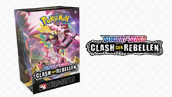 Gleich losspielen mit den Build & Battle Boxen der Pokémon-Sammelkartenspiel-Erweiterung Schwert & Schild – Clash der Rebellen