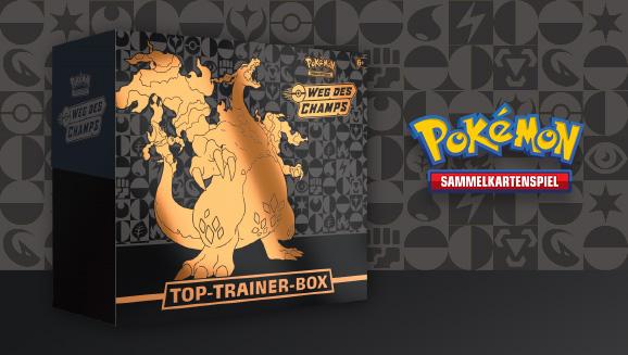 Werde zum Champ mit der Top-Trainer-Box Weg des Champs des Pokémon-Sammelkartenspiels