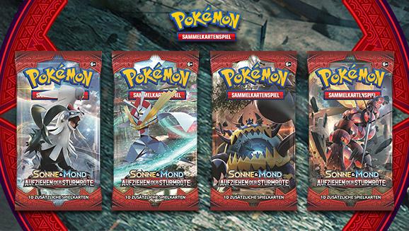 Pokémon-Sammelkartenspiel-Erweiterung <em>Sonne & Mond – Aufziehen der Sturmröte</em>