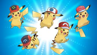 Schnapp dir Pikachu, die Ashs Kappen tragen!