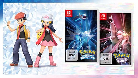 Kehre am 19. November 2021 mit Pokémon Strahlender Diamant und Pokémon Leuchtende Perle in die Sinnoh-Region zurück