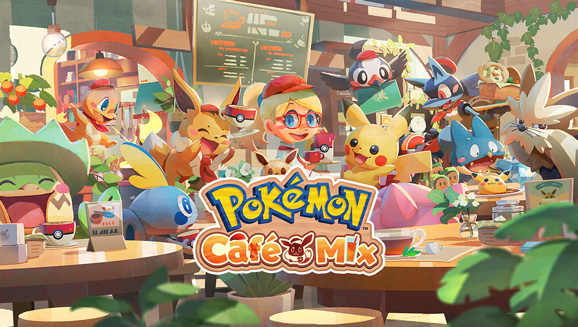 Tische ab sofort in Pokémon Café Mix ordentlich Spaß auf!