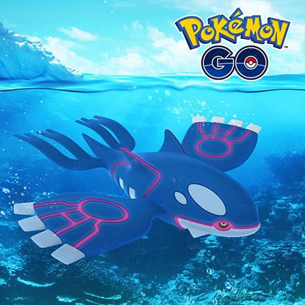 Nimm Kurs auf Kyogre in Pokémon GO