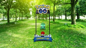 Bisasam sprießt am Pokémon GO Community Day